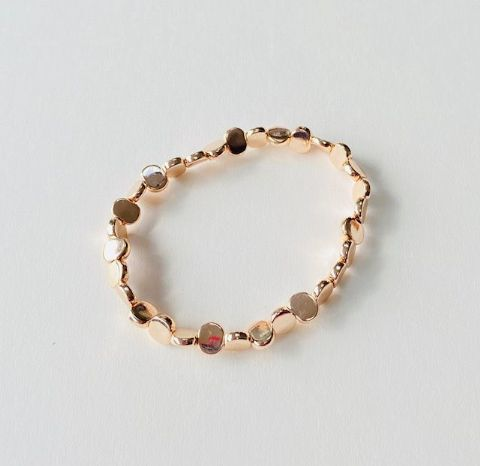 ROSE GOLD BEADED STRETCHY BRACELET